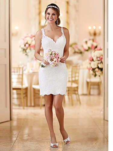 Tianshikeer Hochzeitskleid 2 Teilig Spitze Tüll Lang Sexy Brautkleid Zweiteilig - 3
