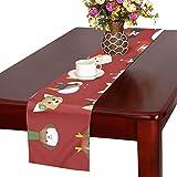 JOCHUAN Varie Razze Cute Dogs Runner da tavola di Natale, Runner da Tavolo da Cucina 16 x 72 Pollici per cene, Eventi, Decorazioni