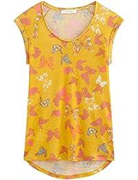 Promod Leinen-T-Shirt mit Print