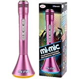 Mi-Mic Karaoke Microphone Speaker with Bluetooth and LED Lights - Pink