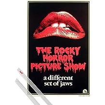 Póster + Soporte: Rocky Horror Picture Show Póster (98x68 cm) Tim Curry, Susan Sarandon, Logo Y 1 Lote De 2 Varillas Transparentes 1art1®