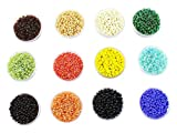 #5: eshoppee Seed beads for jewelery making Set of 12 Colours , 20Gm X 12