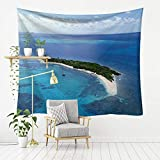 MSHTXQ Seaside Beach Scenery Series Polyester Tapestry Wall Hanging Mandala Beach Towel Beach Blanket 200X150CM