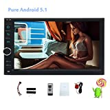 Android 5.1 GPS di navigazione Autoradio Wifi Bluetooth 7 pollici Digital Media Receiver 2 DIN con stereo Quad Core 1.6G Cortex A9 CPU 16G Flash Car Audio OBD Radio FM MP3 Player FM / AM / ingresso AUX / USB / telecomando / Specchio-Link