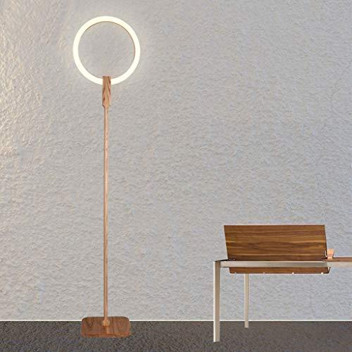 Lampadaires- Nouveau style chinois led lampadaire simple moderne en bois de frêne + acrylique lumière anneau lampe de table à café anneau créatif chambre lampe personnalité nouvelle lampe de table ver