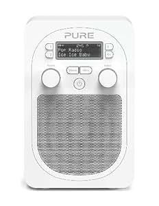Pure Evoke D2 Glacier Radio numérique DAB Bluetooth/USB Blanc