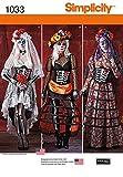 Simplicity 1033Tamaño R5–Patrón de Costura para Disfraces de del día de los Muertos