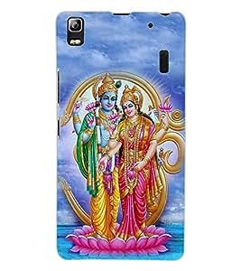 ColourCraft Lord Vishnu with Maa Laxmi Design Back Case Cover for LENOVO A7000