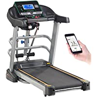 Preisvergleich für Newgen Medicals Fitnessgeräte: Profi-Laufband & Fitness-Station, App, Bluetooth, 18 km/h, 1.865 Watt (Sport-Laufband)