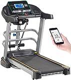 Newgen Medicals Heimtrainer-Laufband: Profi-Laufband & Fitness-Station, App, Bluetooth, 18 km/h, 1.865 Watt (Laufband mit Massagefunktion)
