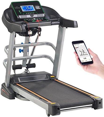 newgen medicals Sportgeräte: Profi-Laufband & Fitness-Station, App, Bluetooth, 18 km/h, 1.865 Watt (Sport-Laufband)