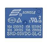 Heschen PC Board relè srd-05vdc-sl-c DC 5V Coil SPDT 10A 250VAC 5pin terminali 2confezione
