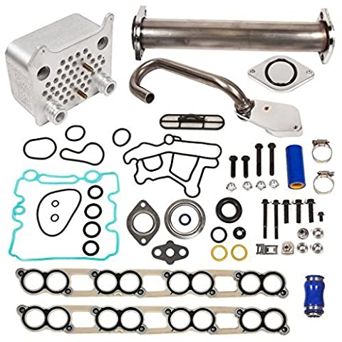 Evergreen EGR-6.0-5 EGR Delete Kit, Upgraded Oil Cooler, Intake Gasket Kit Ford 6.0 Powerstroke Diesel F250 F350 F450 by Evergreen Parts And Components