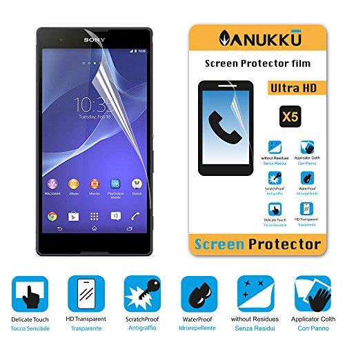 Foto 3X Pellicola Protettiva Proteggi Schermo Screen Protector Anukku® Per Sony Xperia T2 Ultra