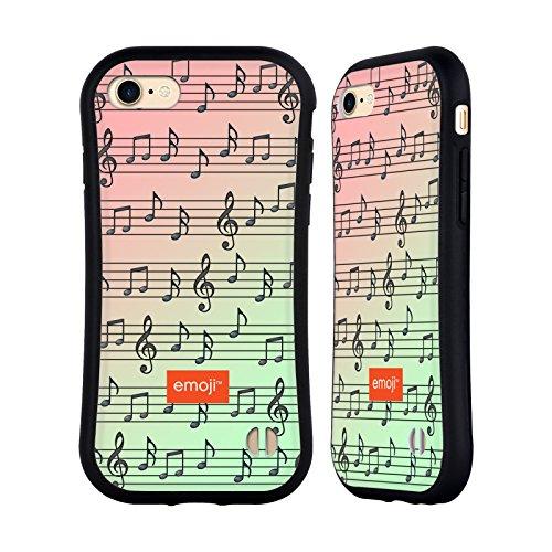 Ufficiale Emoji Disco Modelli Musicali Case Ibrida per Apple iPhone 6 Plus / 6s Plus Note