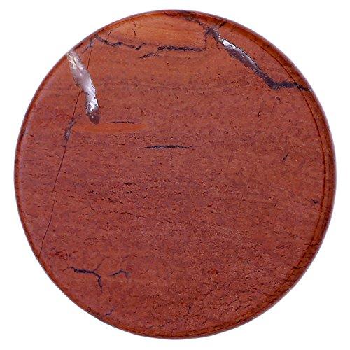 Morella Damen Coin 33 mm Edelstein roter Jaspis Chakren Scheibe Halsketten-Anhänger und zur Stärkung