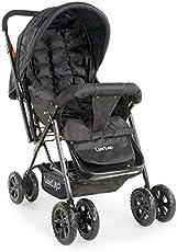 Luvlap Blossom Baby Stroller (Black)