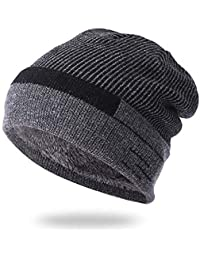 OVINEE Sombrero más Terciopelo Grueso Hombre de Punto cálido otoño e  Invierno Ciclismo Gorras a Prueba 5296779f7e1