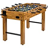 """Tischfussball """"Glasgow"""" Buche inkl. Zubehör Set, 2 Getränkehalter, höhenverstellbare Füße, nahtlos hochgezogene Spielfeldecken, Tischkicker, Kicker, Kickertisch - 2"""