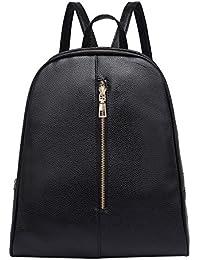 KanLin1986 Mujeres Bolsos mochila de hombro bolsos bandolera cuero mochila con Cremallera Mochilas escolar Bolsos mochila bolsa de viaje…