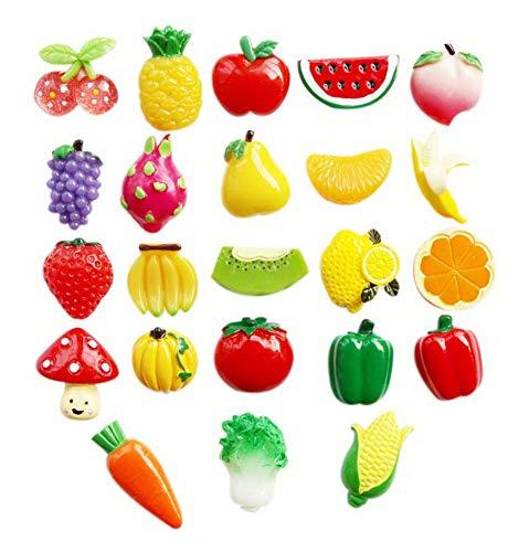 Koala Superstore 23 Stück Obst und Gemüse Kühlschrankmagnete Kreative 3D Nette Magnetische Aufkleber