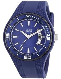 Guess FIN W95143G4 - Reloj analógico de cuarzo unisex, correa de silicona color azul
