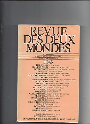 Revue des deux mondes septembre 1990: Liban