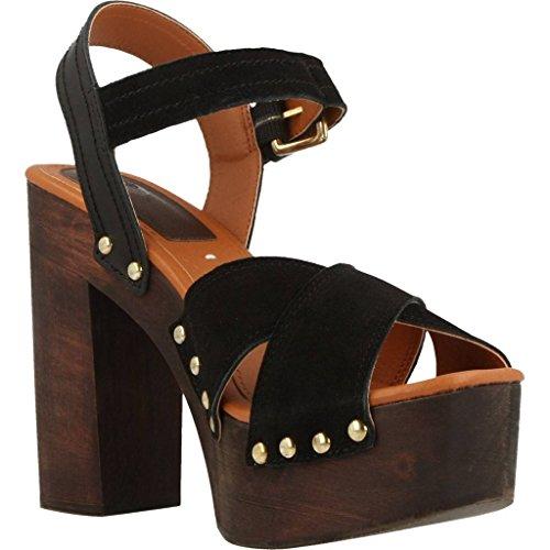 GIOSEPPO scarpe donna sandali tacco legno 39072-02 LEAN Nero