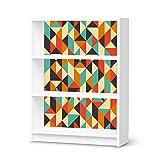 Klebefolie für IKEA Billy Regal 3 Fächer | Muster Möbel-Folie Sticker Möbelfolie selbstklebend | Einrichtung aufpeppen Raumgestaltung | Design Motiv Hallucinogen