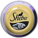 Sheba Dômes pour Chat Adulte – Friandise aux Filets de Thon et aux crevettes Roses en Sauce – Barquettes Snack 24 x 80g