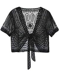 JERFER Tops Mignonne T-Shirt déco à Paillettes et Perles pour Femmes des années  1920 6366f631e21