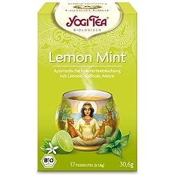 Yogi Tee, Lemon Mint Tee, 17 Teebeutel, BIO, Biotee, Ayurvedische Teemischung, Biotee, 30,6g