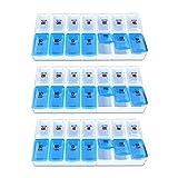 Schramm 3er Pack Tablettenbox Nicht teilbar Pillen Tabletten Box Schachtel Pillen Tabletten Box Tablettendose Pillendose Pillenbox Tablettenboxen