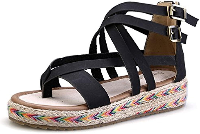 JITIAN  s Plates Femmes Chaussure de Plage Clip Romaines Toe Tongs Romaines Clip Plateforme   OuvertB07CFKR27QParent 307aa6
