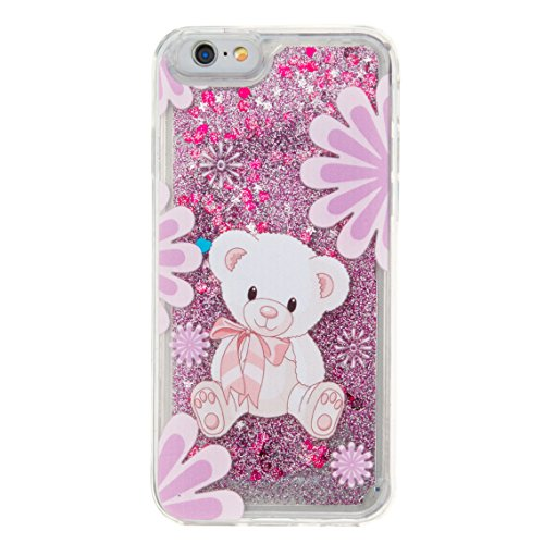 Roreikes Apple iphone 7 Plus Coque, iphone 7 Plus Case (5.5 Pouces), étui souple transparent Cool 3D Flottant sables mouvants Étoile Bling Luxe Étincelle Design Cas Crystal Star douce couverture arriè 15#