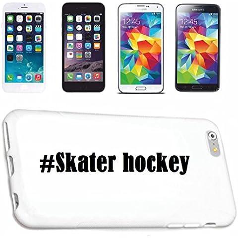 cubierta del teléfono inteligente Samsung S5 Mini Galaxy Hashtag ... #Skater hockey ... en Red Social Diseño caso duro de la cubierta protectora del teléfono Cubre Smart Cover para Samsung Galaxy Smartphone … en blanco ... delgado y hermoso, ese es nuestro hardcase. El caso se fija con un clic en su teléfono inteligente