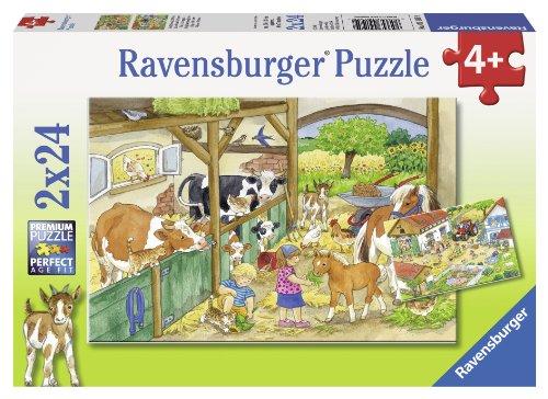 Ravensburger 25 Puzzle (Ravensburger 09195 - Fröhliches Landleben)
