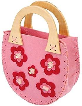 Lily Bag - rosa, con decorazioni floreali (accessorio del costume)