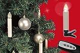 Gravidus 10 kabellose LED Weihnachtskerzen + Fernbedienung