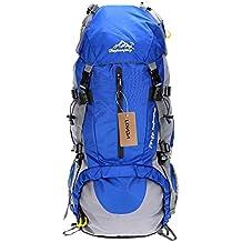 Lixada Zaino da Trekking Zaini da Escursionismo 50L Impermeabile Sport Trekking Escursioni Campeggio Viaggio Arrampicata Zaino con Copertura della Pioggia (blu) (blu1)