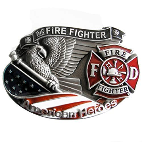 Piratenladen Buckle American Fire Fighter - Feuerwehr - Firefighter - Gürtelschnalle - Gürtelschnalle Firefighter