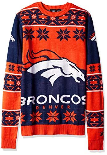 Klew NFL Big Logo Pullover Größe L Denver Broncos