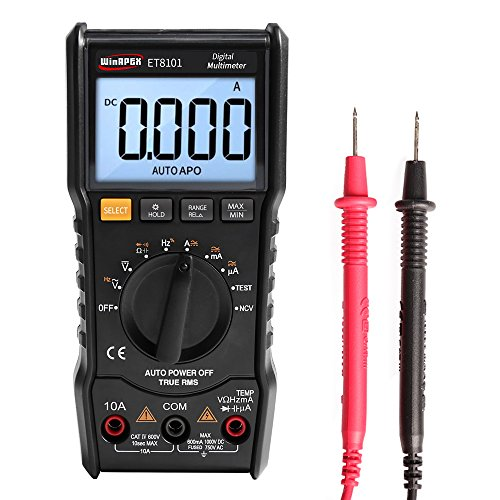 Leepesx 6000 Zählimpulse Digital-Multimeter Voller Schutz Mini-DMM Multifunktions-Handheld-Multimeter True RMS Messung AC/DC-Spannung Strom Widerstand Kapazität Frequenz Duty Cycle NCV Tester Fire Duty-cycle-multimeter