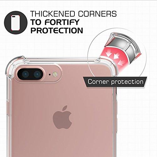 Cover iPhone 7 Plus, Pasonomi [Assorbimento-Urto] [Ultra Clear] Cristallo Chiaro Trasparente Silicone Gel per iPhone 7 Plus, Trasparente