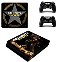 Hytech Plus Call Of Duty WWII Special Edition Theme Sticker For PS4 Slim Console & 2 Controllers