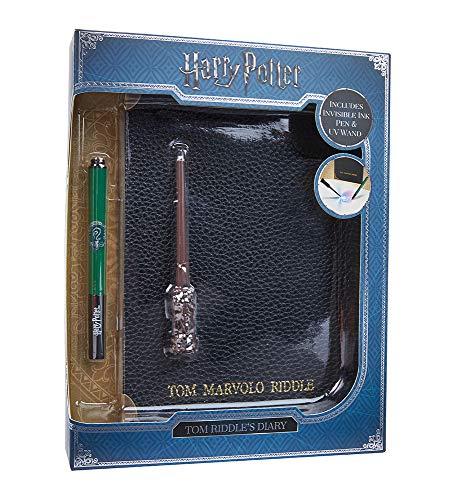 Wow! Stuff Collection Harry Potter Tom Riddle's Tagebuch Notizbuch, Slytherin House Stift und UV-Zauberstab