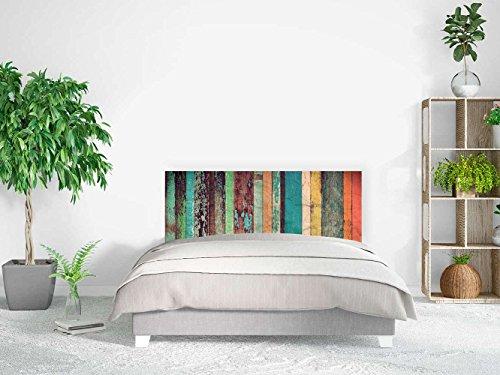 Cabecero Cama PVC Impresión Digital   Imitación Madera Antigua 150 x 60 cm   Cabecero Original y Económico