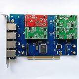 TDM410P -1 FXO+3 FXS,Tarjeta PCI de 4 puertos analogicos,VOIP