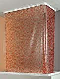 ECO-DuR  4024879003654 Kassetten ECK Duschrollo 137 x 62 cm weiß - Flower terra