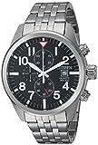 Citizen Herren Chronograph Quarz Uhr mit Edelstahl Armband AN3620-51E